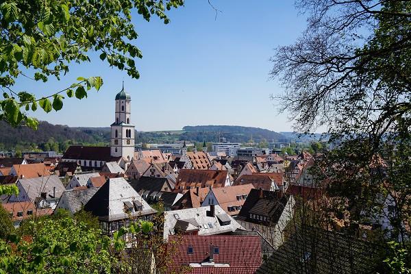 Biberach an der Riss - Blick vom Giglberg über die Altstadt