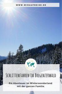 Schlitten fahren in der Alpenarena Hochhäderich im Bregenzerwald. Weitere Informationen unter www.wiraufreise.de