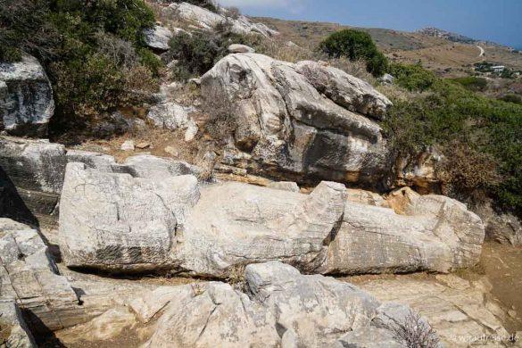 Naxos - Die Perle der Kykladen mit Kindern entdecken. Kouros von Apollonas oder der Koloss des Dionysos