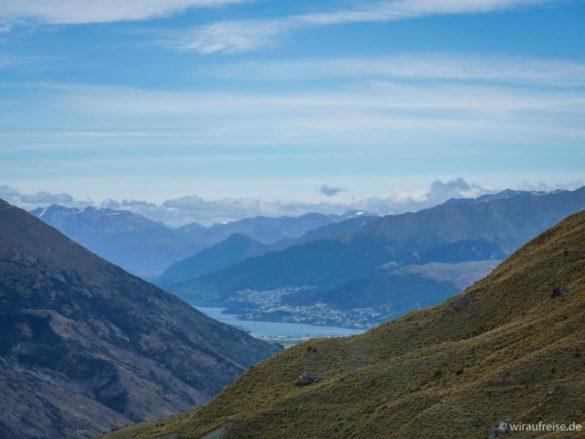 Ausblick auf Queenstown Neuseeland