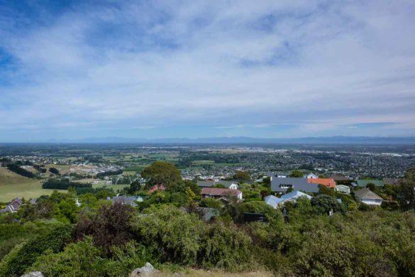 Ausblick über Christchurch Neuseeland