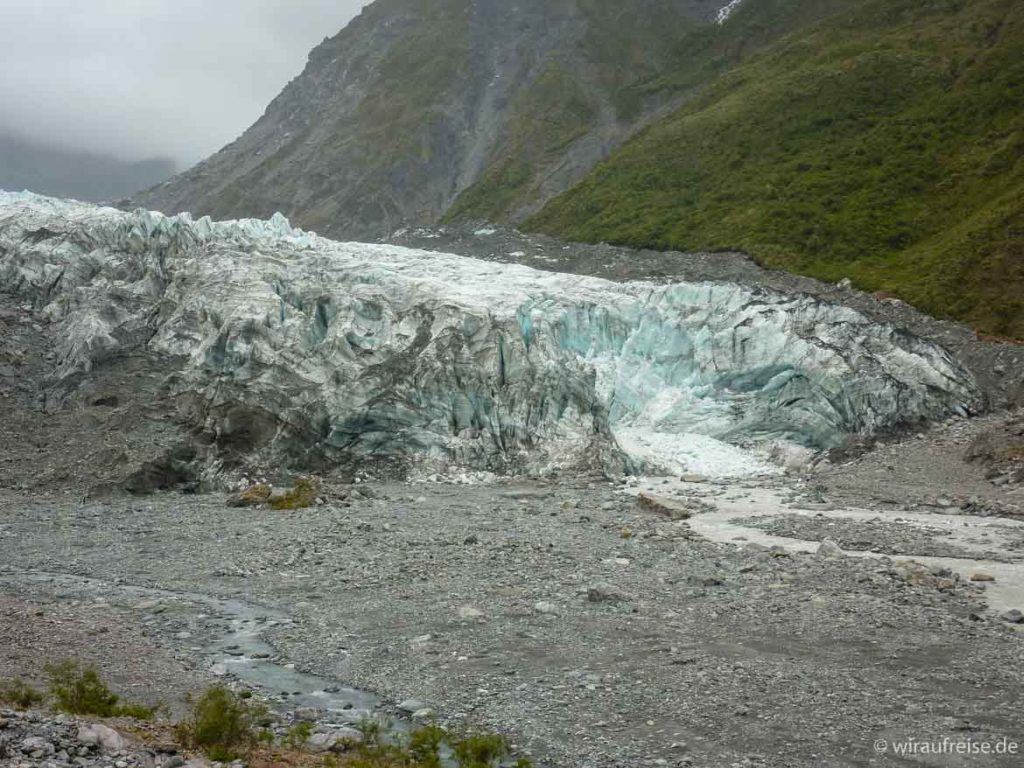Kalbender Gletscher Franz-Josef-Gletscher Neuseeland