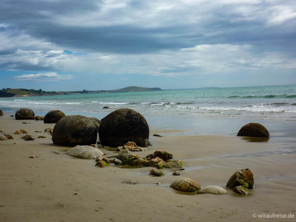 Moeraki Boulders an der Ostküste von Neuseelands Südinsel