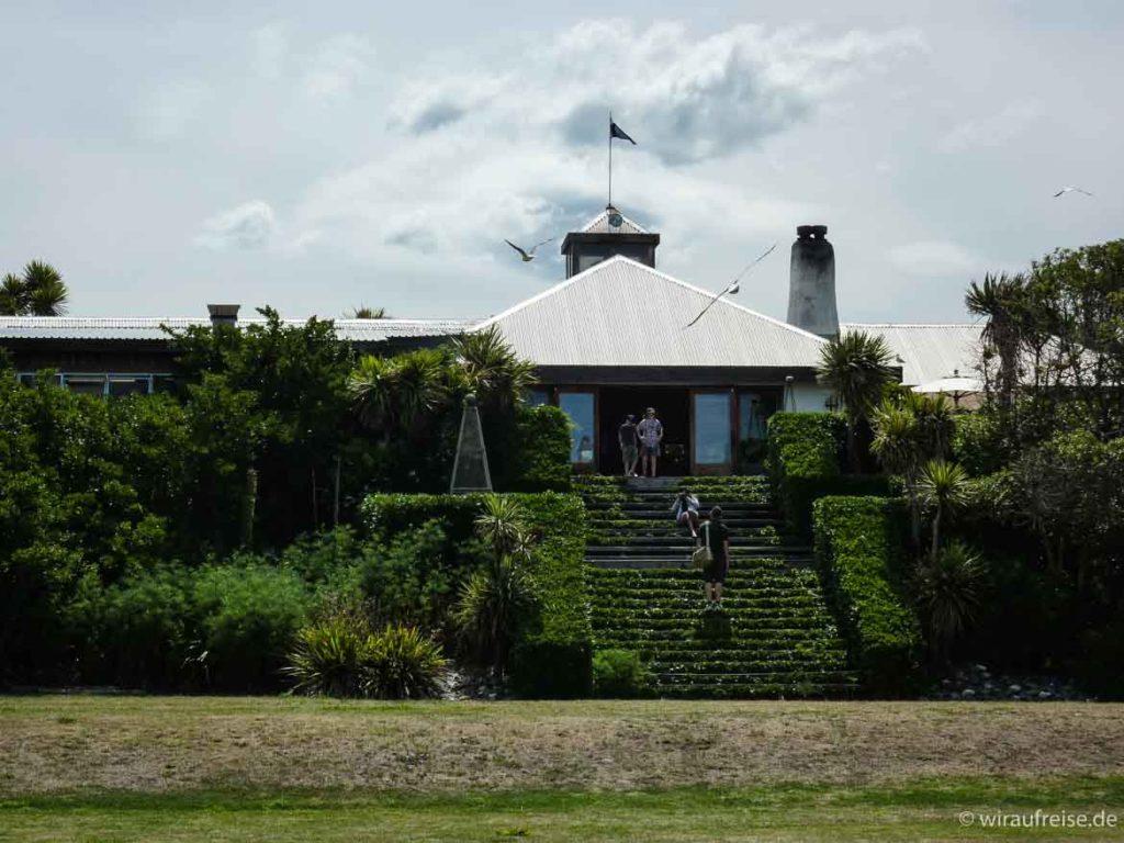 Restaurant, Laden, Location am Meer, zwischen Ward und Clarence in den Marlboroughs Neuseeland südinsel