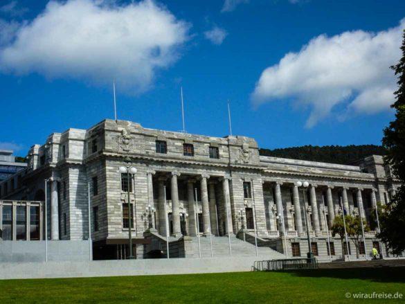 Wellington Parlament. Weitere Informationen unter www.wiraufreise.de