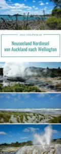 Pinterest Pin für Neuseeland Nordinsel von Auckland nach Wellington