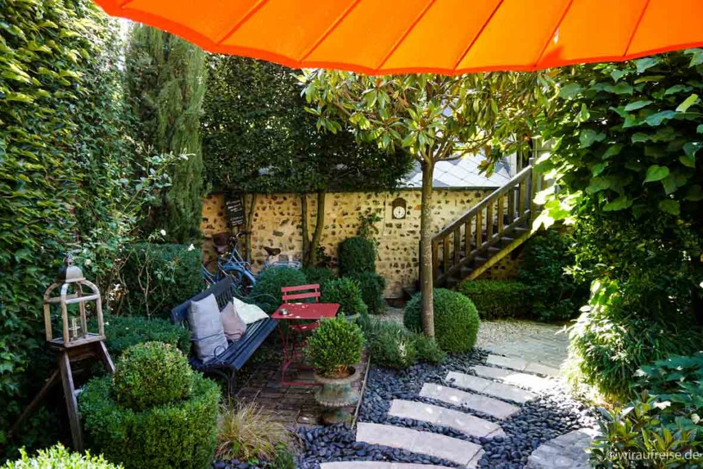 "Innenhof im Bed & Breakfast ""La Cour Sainte Catherine"