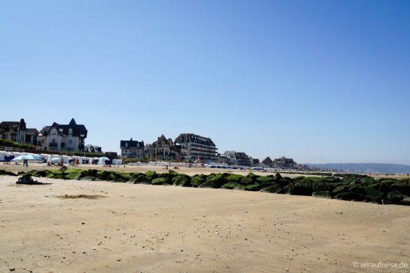 Der Oststrand in Blonville-sur-mer bei Ebbe