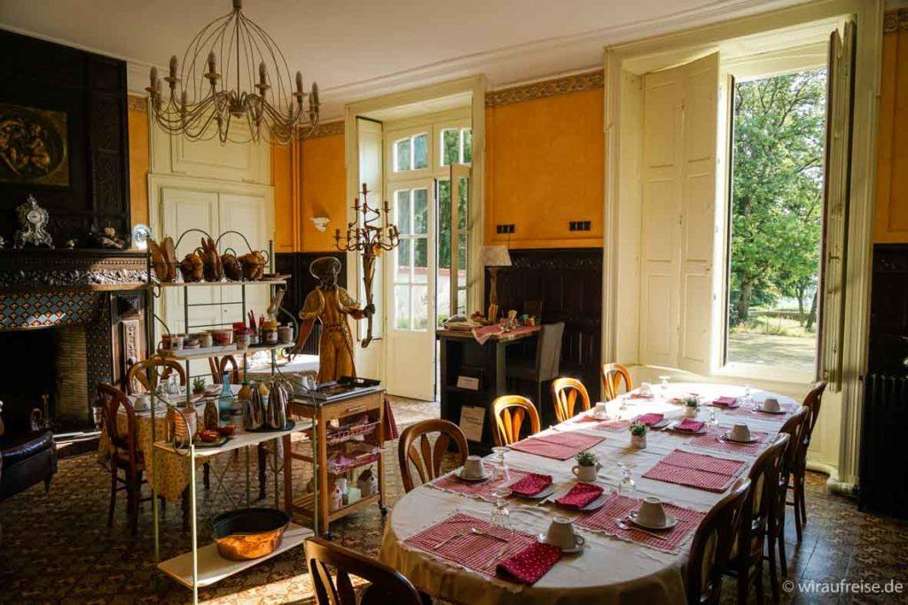 Frühstücksraum im Adelshof in der Champagne