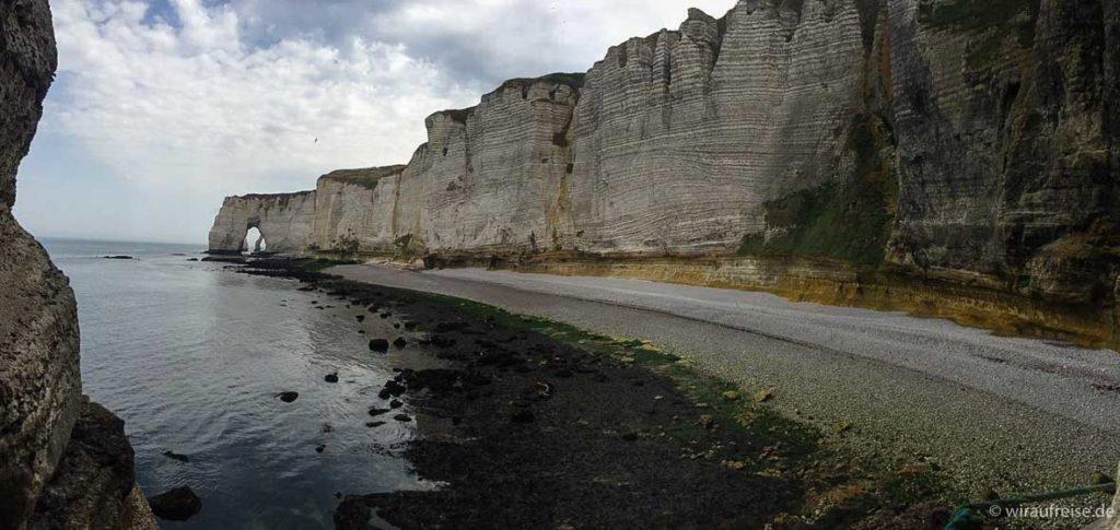 Die Kreideklippen Falaises d'Aval in Etretat