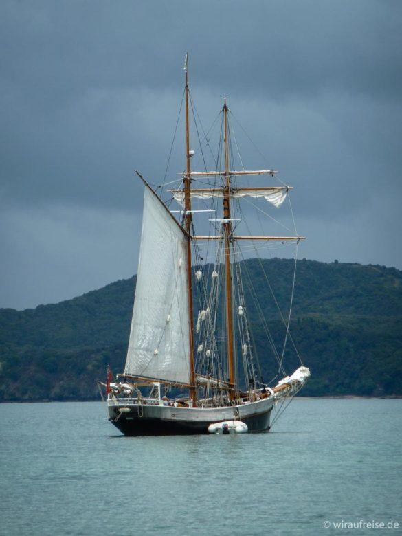 R. Tucker Thompson - ein Zweimaster, mit dem wir einen Segeltörn durch die Bay of Islands machten - Neuseeland nordinsel