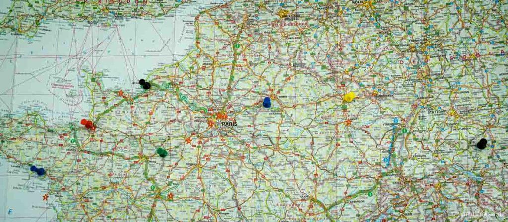 Übernachtungen Stationen Frankreich Rundreise