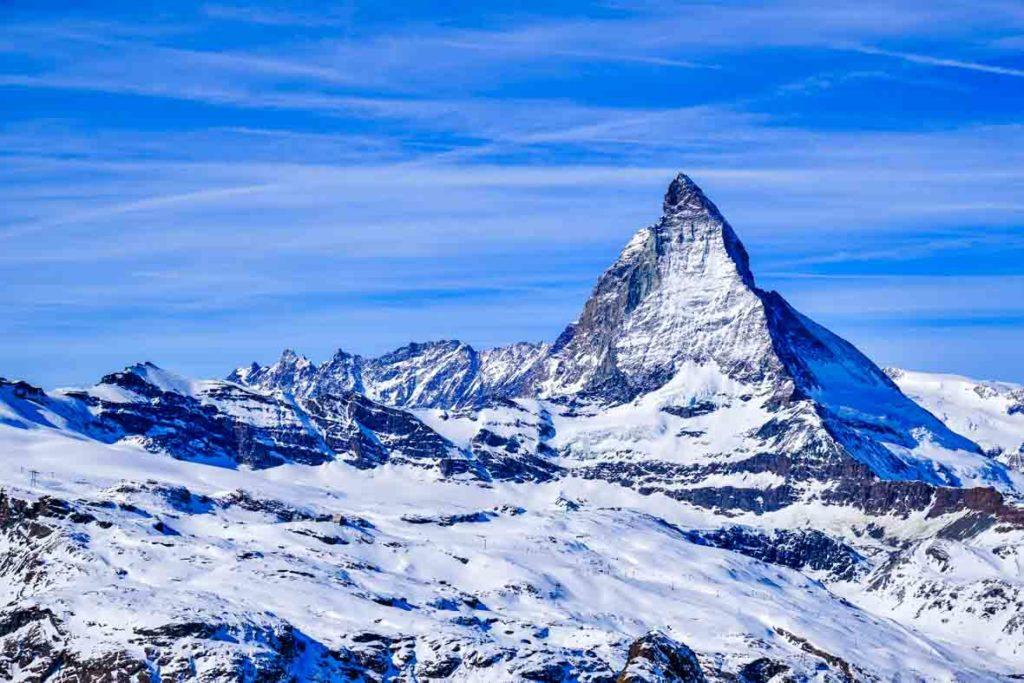 Matterhorn Schnee bedeckt