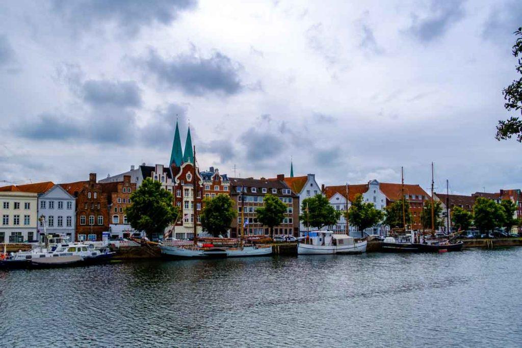 Stadtansicht Lübeck an der Trave