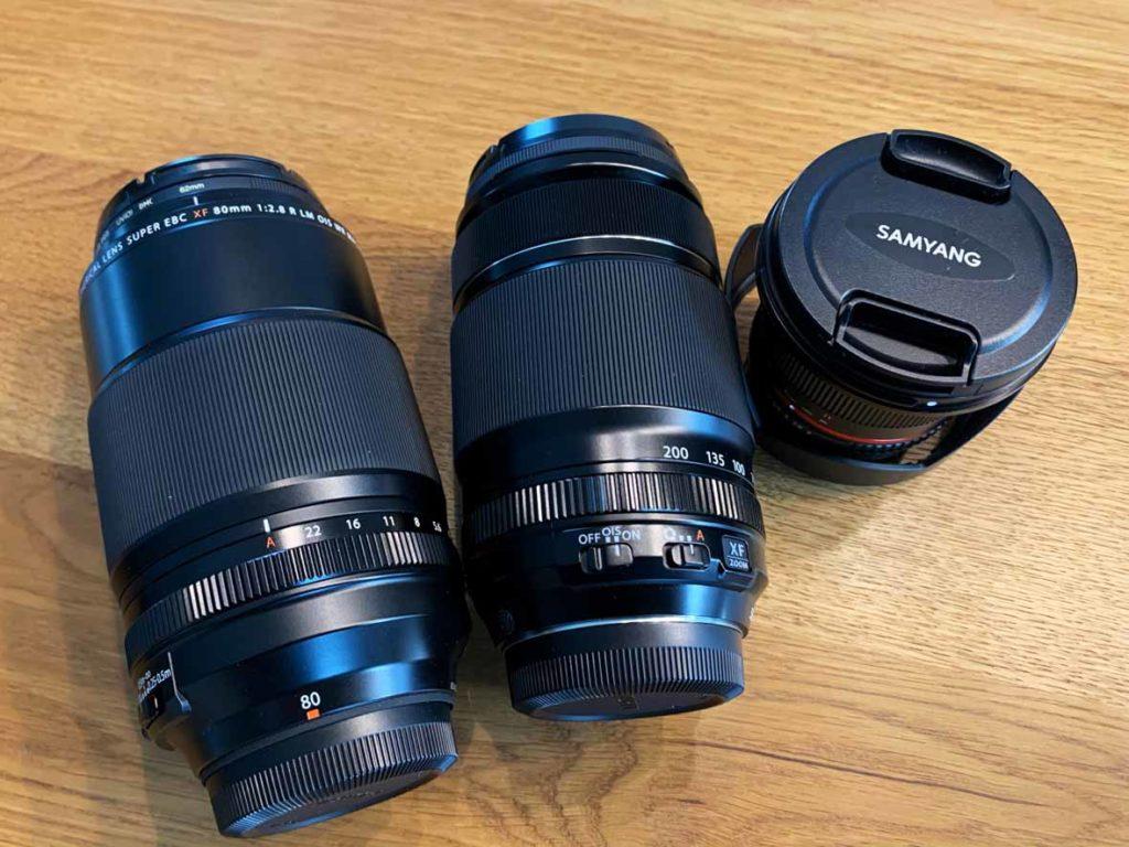 3 Objektive von Fuji und Samyang