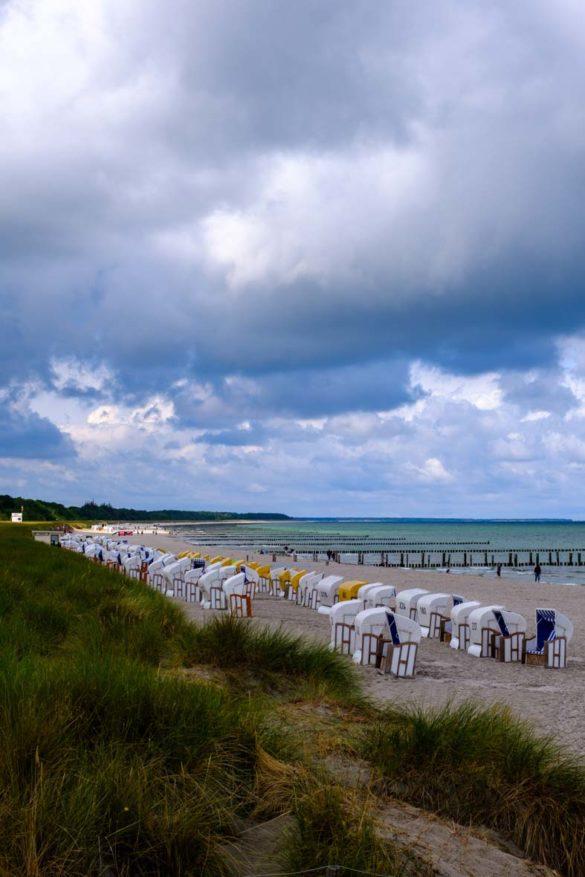 Strandkörbe am Strand auf Zingst