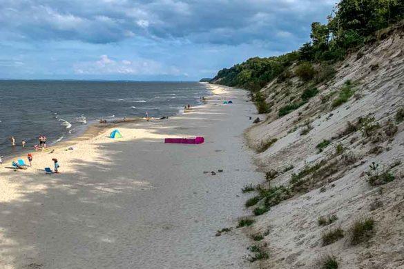 Steilküste am Strand von Stubbenfelde - Zugang vom Campingplatz
