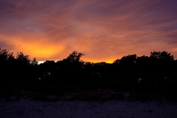 Sonnenuntergang am Drewoldke auf Rügen