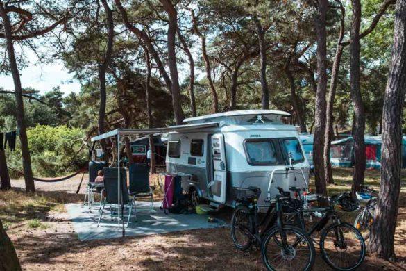 Unser Stellplatz auf dem Campingplatz Drewoldke auf Rügen